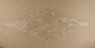 "1/8"" Clear Acrylic Laser Cut Quilting Template - 45 Degree Diamond Tool 1-3 inch"