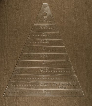 """1/8"""" Clear Acrylic Laser Cut Quilting Template - 45 Degree Triangle Ruler"""