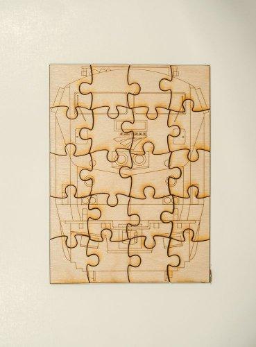 Amtrak GE P42 Laser cut wooden puzzle