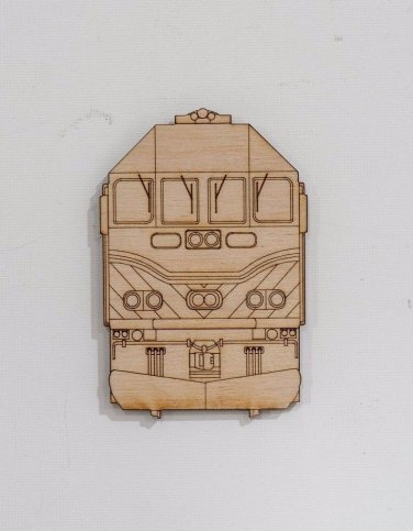 Metra MP36 laser cut front view magnet