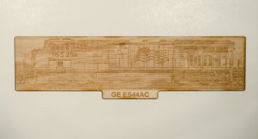 Union Pacific GE ES44AC Laser engraved wooden sign