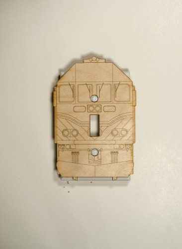 Metra MP36 Laser engraved and cut Switch plate cover