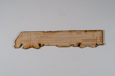Amtrak #66 GE P42 Laser engraved and cut Wood Magnet
