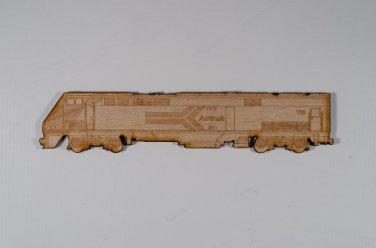 Amtrak #156 GE P42 Laser engraved and cut Wood Magnet
