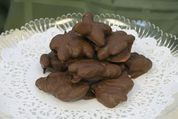 MILK CHOCOLATE ALMOND CLUSTER - 1 POUND MADE FRESH FAST