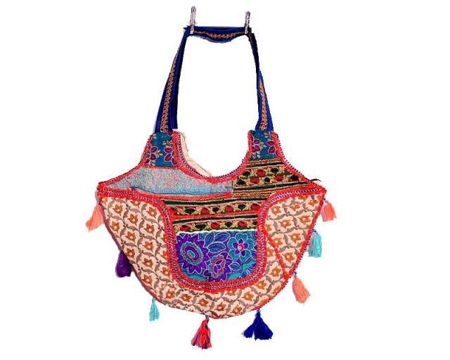 INDIAN BEAUTIFUL BANJARA PATCHWORK EMBROIDERED VINTAGE BAG CROSS PURSE ZIPSY