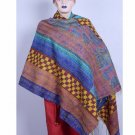 New Women's Fashion Reversible Gorgeous Long Wrap Scarf Kantha Silk Shawl Beach