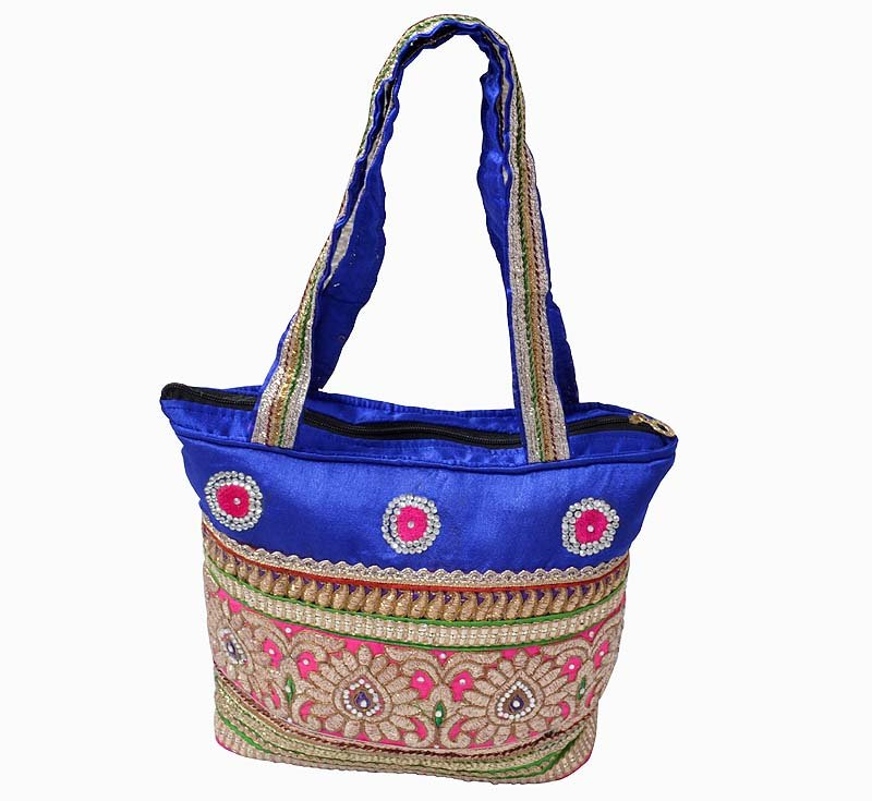 New!! TRADITIONAL Indian Handmade Canvas Tote Bag Handbag for Women ThanksGiving