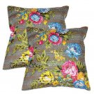 Indian Kantha Handmade Cotton Floral Cushion Stitch Case Home Decor Pillow Cover