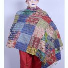 Indian Kantha Silk Sari Stole Women Shawl Hand Stitch Vintage Embroidered Scarf