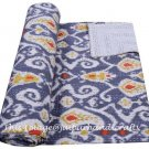 Indian Quilt Cotton Throw Floral Kantha Queen Gudari Blanket Bedspread Decor