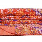 Indian Twin Kantha QuiltsThrow Gudari Ralli Cotton Hand Reversible Bedspread