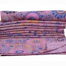 INDIAN TWIN KANTHA QUILT BEDSPREAD REVERSIBLE BLANKET THROW GUDARI DECOR ART