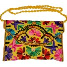 INDIAN NEW MULTI COLOR NICE BAG WEDDING STYLE CLUTCH HAND BEADED HANDMADE PURSE