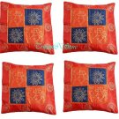 """16"" INDIAN NICE PATCHWORK SILK CUSHION PILLOW COVER EMBROIDERED VINTAGE ETHNIC"