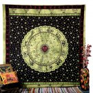 Indian Horoscope Queen Tapestry Bedspread Zodiac Astrology Wall Hanging Hippie