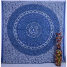 Indian Elephant Mandala Tapestry Psychedelic Hippie wall hanging Bed Decor Art