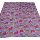 Indian Kantha Throw Bedspread Bedding Reversible Blanket Quilt Floral Gudari