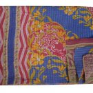 KANTHA QUILT REVERSIBLE VINTAGE BEDDING BEDSPREAD THROW BLANKET GUDARI HANDMADE