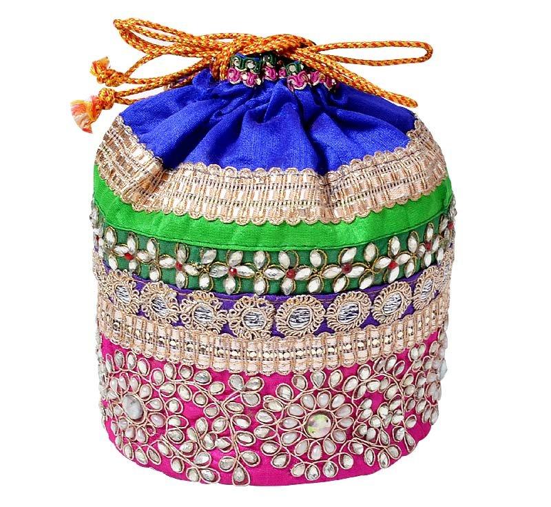 Clutch Handbag , Potli Bag Designer , Wedding&Fancy Bag Indian , Beads Work Bag,