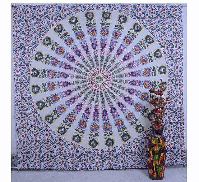 Indian Nice Mandala Bohemian Bedspread Wall Hanging Tapestry Hippie Boho{80X87}i