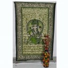"Indian Twin ""Ganesha"" Bedspread Tapestry Wall Hanging Bed sheet Home Decor Throw"