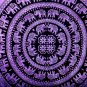 NICE PURPLE ELEPHANT MANDALA BEDSPREAD WALL HANGING TAPESTRY TABLE COVER  DECOR