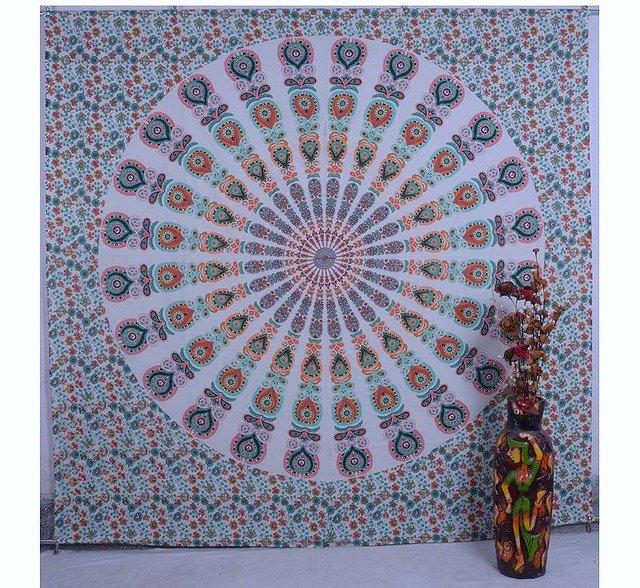 Indian Mandala Bedspread Bohemian Handmade Hippie Throw Wall Hanging Tapestry