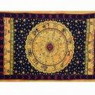Indian Horoscope Zodiac Astrology Twin Wall Hanging Tapestry Hippie Bedsheet Art