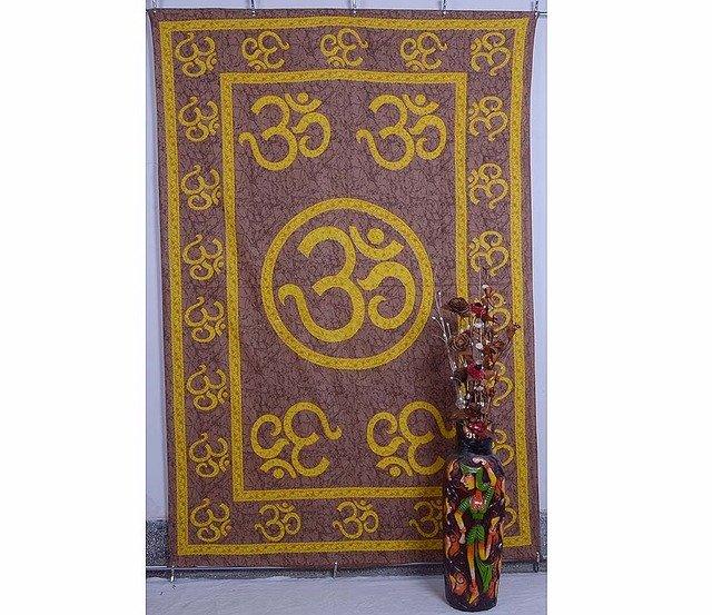 "Indian ""Om"" Mandala Wall Hanging Tapestry Yoga Hippie Curtain Bedspread Bedsheet"