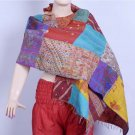 Indian Beautiful Handmade Designer Sari Silk Shawl / Scarf / Wraps Shawl Kantha