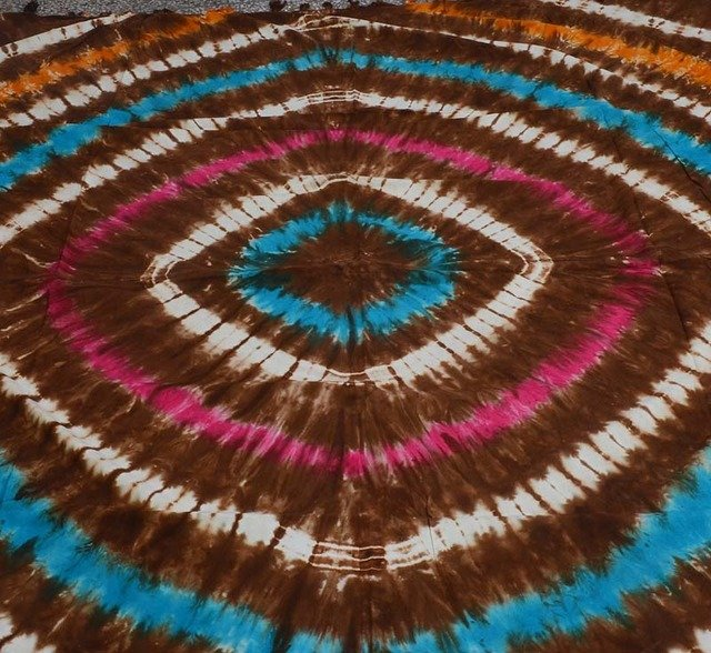 INDIAN TIE DYE PEACE SIGN TAPESTRY BLANKET BEDSPREAD QUEEN WALL HANGING DECOR