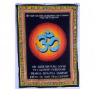 INDIAN HINDU OM PRINT HAND PAINTED WALL HANGING TAPESTRY YOGA MAT HOME DECORATE