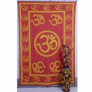"Indian Red Wall Hanging Tapestries Maditation Hippie Bedspread ""Om Mandala"" Yoga"