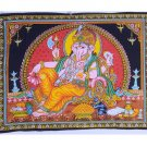 Indian Beautiful hindu god elephant ganesha painted ganesh wall hanging tapestry