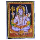 INDIAN CLASSIC HINDU GOD SHIVA PAINTED WALLHANGING TAPESTRY HOME DECOR YOGA MAT
