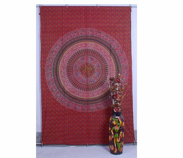 Indian Elephant Mandala Hippie Wall Hanging Psychedelic Throw Ethnic Tapestry