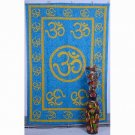 Indian Mandala Om Blue Wall Hanging Tapestries Maditation Hippie Bedspread Yoga