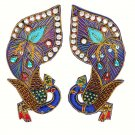 Indian Handmade Peacock Hand-Beaded Appliques,Big Size Peacock Indian Appliques.