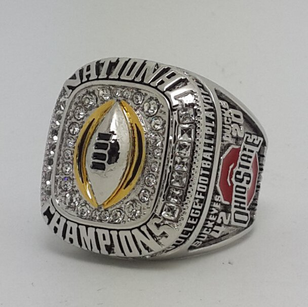 Ohio State Buckeyes 2014 2015 championship ring SPENCER football NCAA ring size 9-14 Back Solid