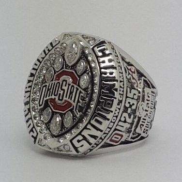 Ohio State Buckeyes 2014 Big Ten championship ring ELLIOTT football NCAA ring size 9-14 Back Solid