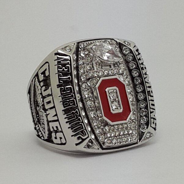 Ohio State Buckeyes 2014 2015 Big Ten championship ring C. JONES football NCAA ring size 8-14 Solid
