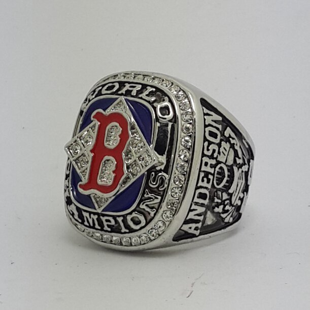 Boston Red Sox 2004 world series championship ring ANDERSON baseball size 11 Back Solid
