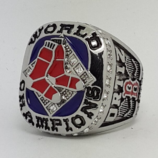 Boston Red Sox 2007 world series championship ring ORTIZ baseball size 11 Back Solid
