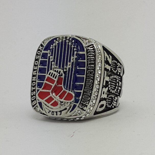Boston Red Sox 2013 world series championship ring ORTIZ baseball size 11 Back Solid