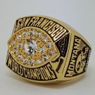1981 San Francisco 49ERS XVI Super bowl championship ring MONTANA size 11 Back Solid