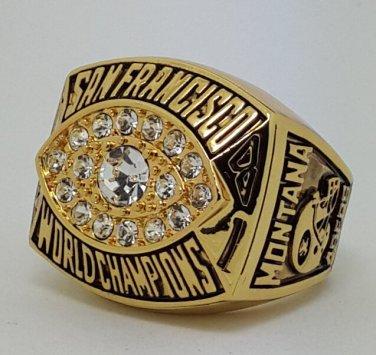 1981 San Francisco 49ERS XVI Super bowl championship ring MONTANA size 11 Back Solid