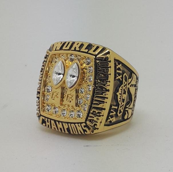 1984 San Francisco 49ERS XIX Super bowl championship ring WALSH size 11 Back Solid