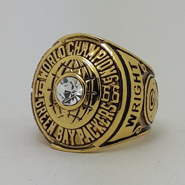1966 Green Bay Packers I Super bowl championship ring WRIGHT size 11 Back Solid