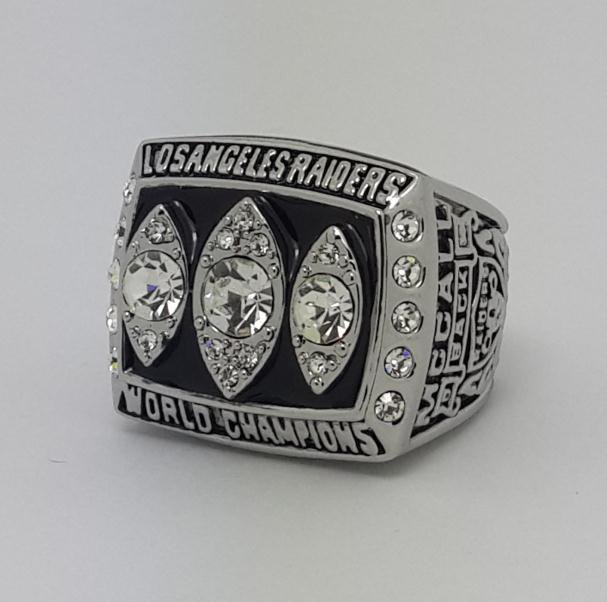 1983 Los Angeles Raiders XVIII Super bowl championship ring MCCALL size 11 Back Solid